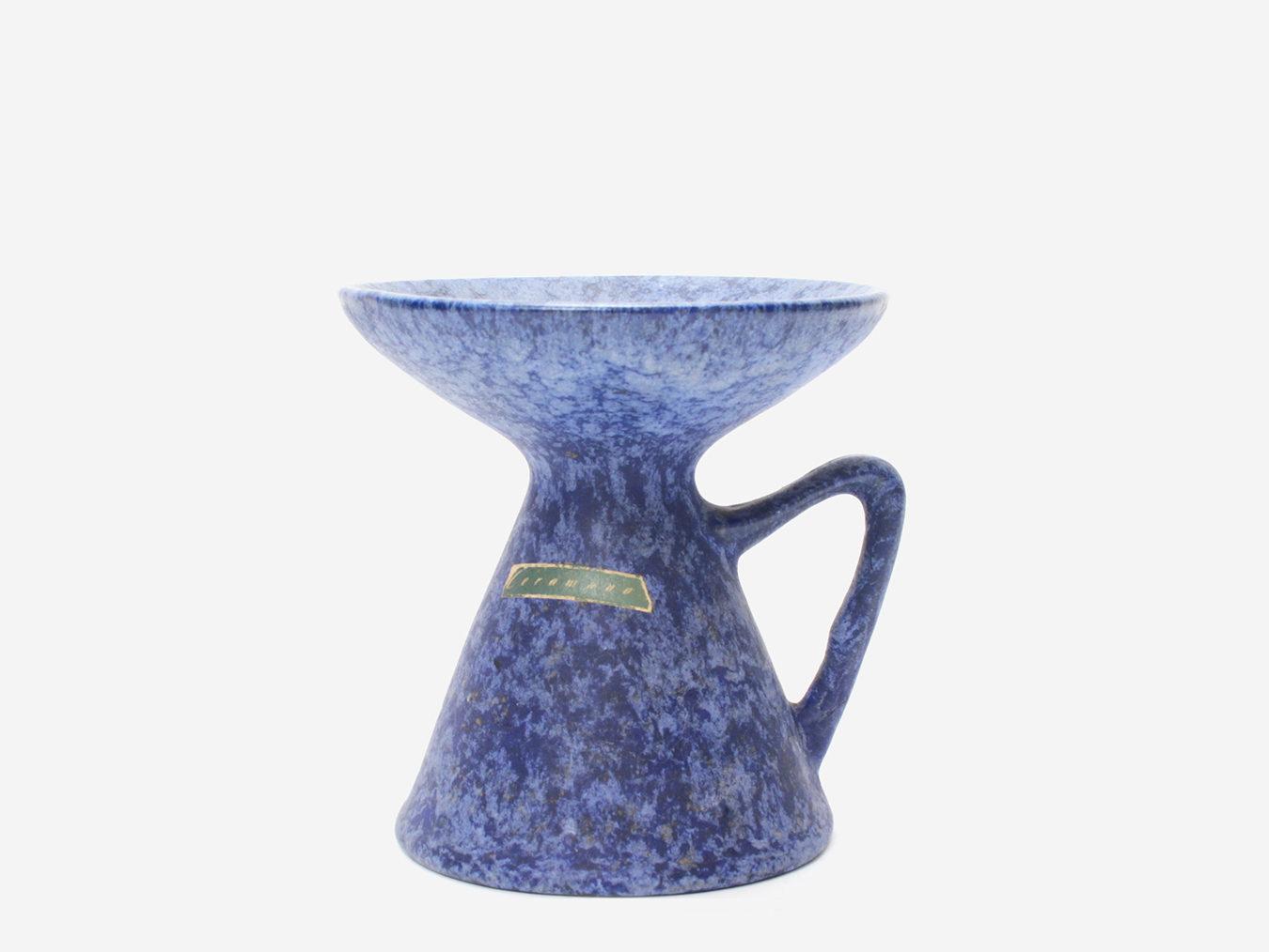 ceramano candle holder blue
