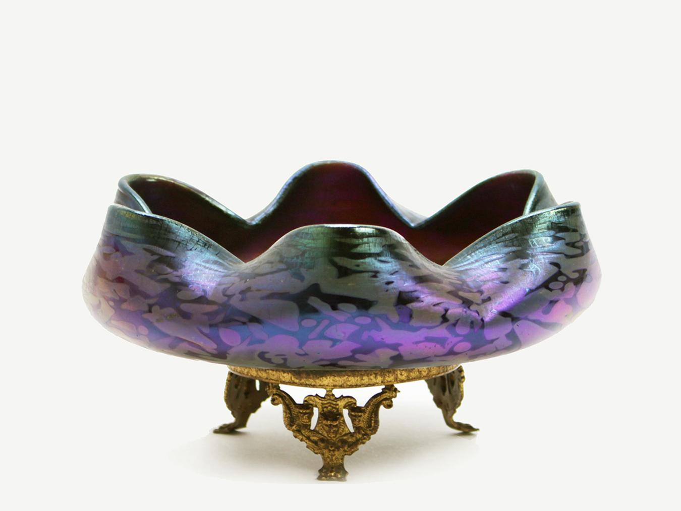 loetz cobalt papillon